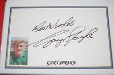 GARY SPRAKE SIGNED WHITE CARD