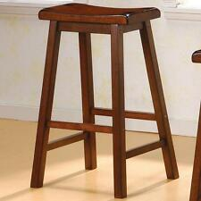 "Heavy Duty 29"" Saddle Seat Bar Stool in a Chestnut Finish - Set of 2"