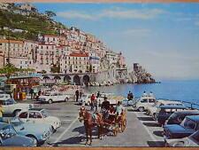 Vecchia Cartolina di AMALFI Carrozzella Tipica alla marina Salerno Fotografia