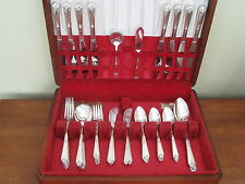 SWEET BRIAR Tudor Plate Oneida silverplate 61pc COMPLETE SET for 8 in vtge chest