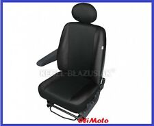 Driver's Seat Covers Black Eco-Leather+Cloth Fabric 2+1 Mercedes Sprinter