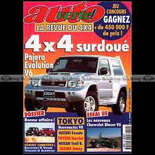 AUTO VERTE N°199 PAJERO EVOLUTION V6 VOLVO V70 CHEVROLET BLAZER ISUZU RODEO 1997