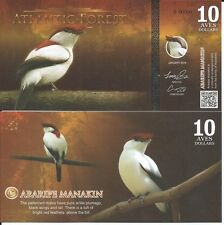 ATLANTIC FOREST BILLETE 10 AVES DOLLARS 2016 SPECIMEN