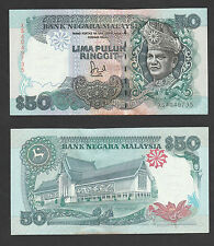 6th RM50 Jaffar Sign 1st Prefix #XS4049735 BA Banknote - UNC minor foxing
