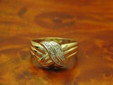 14kt 585 GOLD RING MIT DIAMANT BESATZ / DIAMANTRING / GOLDRING