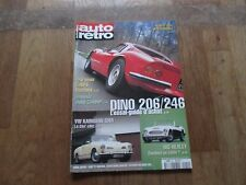 REVUE AUTO RETRO 241 ferrari dino 206 246 vw karmann ghia big healey