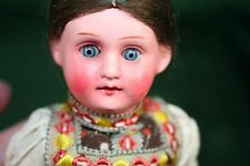 Antique German Painted Bisque Doll in Original Costume 8 inches