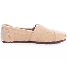 Toms Classic Burlap Hemp Womens Natural Slip On Brand New Shoes 6.5 UK