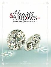 Round 8mm Hearts and Arrows Forever Brilliant Moissanite = 2.00 CT Dia. w/Cert.