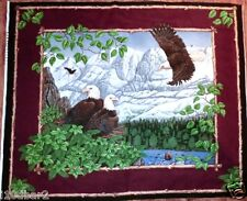 EAGLE FABRIC PANEL PATRIOTIC QUILT TOP WALLHANGING EAGLE OVERLOOK NEW! BTP