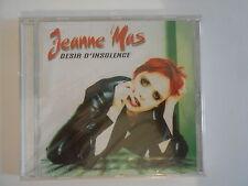 JEANNE MAS : DESIR D'INSOLENCE / SAUVEZ-MOI ★ CD ALBUM NEUF ★ PORT 0€