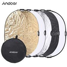 """90*120CM 47"""" 5in1 Photography Multi Collapsible Light Reflector Board Disc B7G2"""