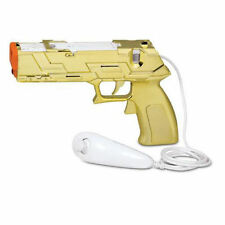 NEW Gold Quick Shot Plus Light Gun for Shooting Games for Nintendo Wii - Wii U