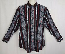 Panhandle Slim Retro Western Wear Shirt  Pearl Snap Southwestern Design ~ XL