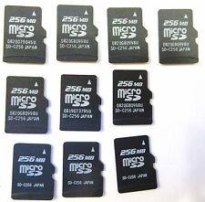 Lot of 10 256MB (MB=megabyte) MicroSD Memory Card 256 MB Micro SD - US Seller