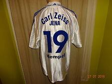 FC Carl Zeiss Jena Adidas U19 Matchworn Trikot 2000/01 + Nr.19 Hempel Gr.L- XL
