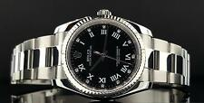 Rolex Oyster Perpetual 36mm No Date 18k Fluted Bezel Factory Diamond Dial 116034