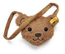 STEIFF Teddy Bear Face Shoulder Bag Girl child gift Brown 21cm EAN 600999 New
