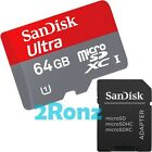 SanDisk Mobile Ultra 64GB 64G Micro SDXC Flash Card UHS-1 SDHC C10 + SD Adapter