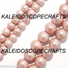 """MAGNETIC HEMATITE BEADS PEARLIZED LIGHT PINK 4MM 16"""" STRAND P15"""