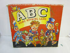 vintage  ABC name rhyming board game corey 1942