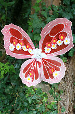 DAISY RED ORCHID BRIDAL WEDDING FLOWER BUTTERFLY FAIRY FAIRIES FESTIVAL WINGS