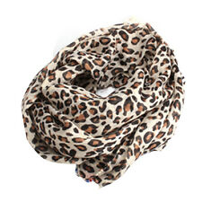 Elegant Noble Classical Style Leopard Print Cotton Blends Warm Scarf Hot Gift