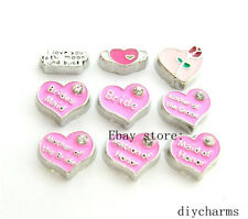 10pcs Mix Style Of Wedding Floating Charm Fit Memory Living Locket Free shipping