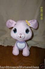 """FISHER PRICE Doodle Bear Pink Plush Puppy """"Draw On Me"""" Washable 7"""""""