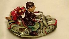 Vintage Monkey w/ Motorcycle Rider Tin WInd-up Toy PN 34354 Japan 1950 Kanto toy