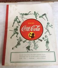 "Vintage Coca Cola 1940-45 School Tablet / Notebook / Pad ""SPORTS"""
