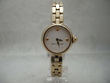 Authentic Marc Jacobs MJ3457 Small White Dial Gold Tone Women's Watch