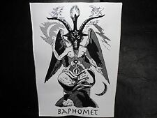 BAPHOMET GOAT  BLACK  AND WHITE    EMBROIDERED BACK PATCH