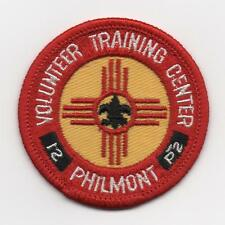 "Philmont Volunteer Training Center 2.5"" Patch, Vintage Cloth Backing, Mint!"