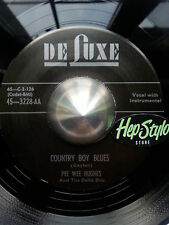 PEE WEE HUGHES/EDDIE BURNS 45 RE- I'M A COUNTRY BOY - GREAT 50s R&B 2 SIDES