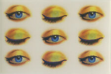 """9 Blinking Winking Eyes Motion Lenticular Card 3 5/16"""" by 2 3/16"""" inches"""