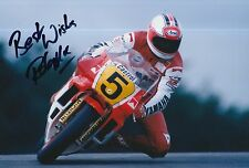 Rob McElnea Hand Signed Photo 12x8 Marlboro Yamaha MotoGP 4.