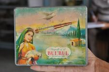Vintage Bulbul Fountain Pen Ad Litho Tin Box , Collectible