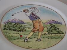 CAVERSWALL PLATE - EDWARDIAN GOLFER - LOVELY COLOURS
