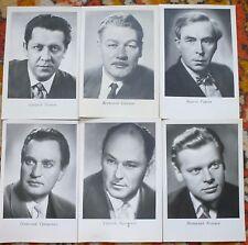 set of 11 POSTCARD SOVIET UNION old USSR VINTAGE ART PRINT postcards MOVIE STARS