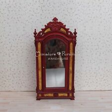 1:12 Dollhouse Miniature Furniture Handcrafted Mahogany Patch Bedroom Wardrobe
