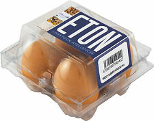 4 ETON Rubber Nest / Pot / Dummy / Fake / Crock Chicken Eggs in Hen Size