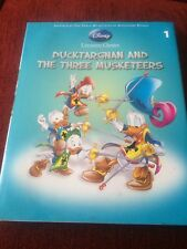 DISNEY LITERATURE CLASSICS - DUCKTARGNAN AND THE THREE MUSKETEERS HARD BACK BOOK