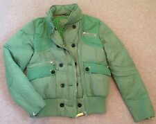 Next Padded Green Short Wadded Jacket with Hood Size 10