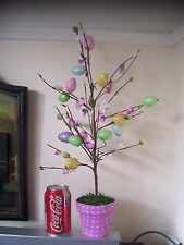 BNWT Decorated Easter Egg Tree Speckle Egg & Blossom Decoration Potted Tree