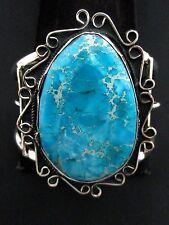 Navajo Silver and Sea Sediment Jasper Bracelet/Cuff Native American Signed *914