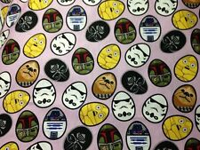 NEW!!  Star Wars Character Easter Eggs Cotton Fabric ~ by the YARD