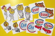 ESSO Classic Car sticker set 'WORN RETRO EFFECT' stickers decals Mini cooper