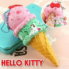 Hello Kitty Ice Cream Squishy SQUEEZE strap mascot phone Berry & mint rare cute!