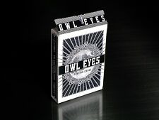 Owl Eyes Playing Cards Deck by George Hage - NOCTURNAL BLACK NEW